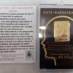 scudo oro antiradiazioni